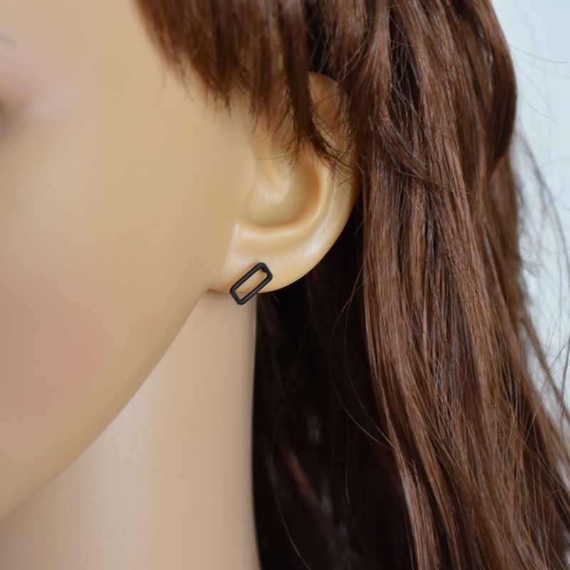 2019 ใหม่ผู้หญิงสตั๊ดต่างหูเรขาคณิตองค์ประกอบ Hollow รอบ/สี่เหลี่ยมผืนผ้า/ต่างหูเครื่องประดับราคาถูกขายส่ง