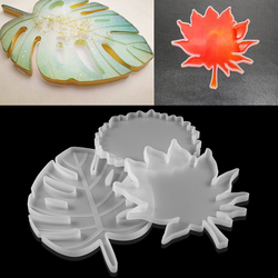 Maple Banana Leaf Coaster Silicone Molds Crystal Cup Mats Epoxy Resin Mould For DIY Table Kitchen Decoration Handmade Crafts