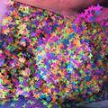 Неоновые бабочки 50 флюоресцентные смешанных цветов разных цветов E345