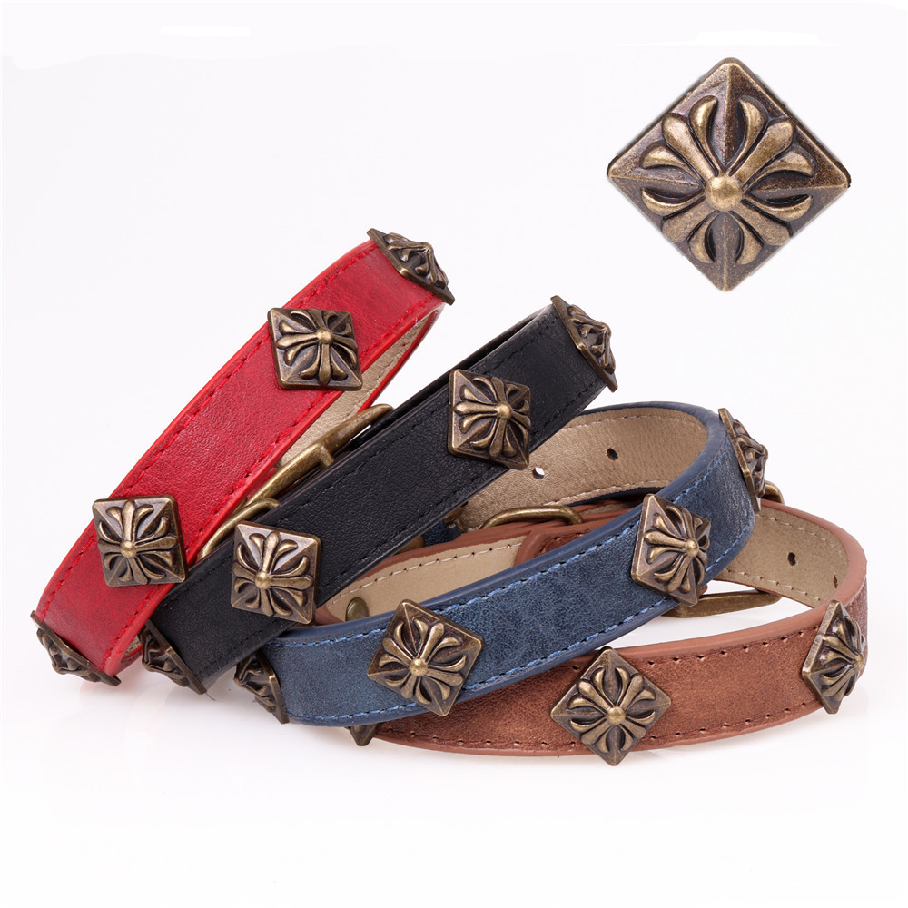 Ginger Special New 2018 New Style Medium Large Dog Pu Pet Dog Collar Pet Supplies