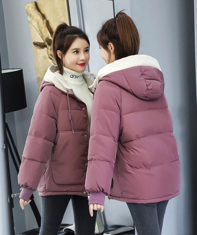 Fashion women 2019   parka   womens autumn winter coats down pink long winter jacket woman female Embroidery free shipping BK727