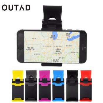 OUTAD Car Steering Wheel Bike Clip Mount Holder Rubber Band For iPhone iPod MP4 GPS Mobile Phone Holders car cover Hot New image