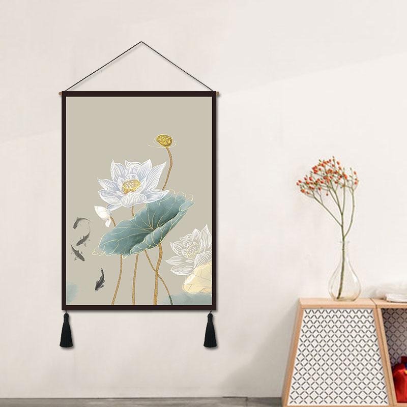 Pintura decorativa lótus novo chinês pendurado pintura