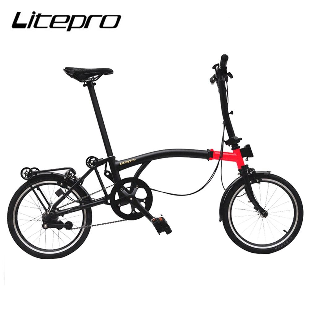 Litepro складной велосипед 16 дюймов внутренний 3 скорости стальная рама мини складной велосипед для Бромптона