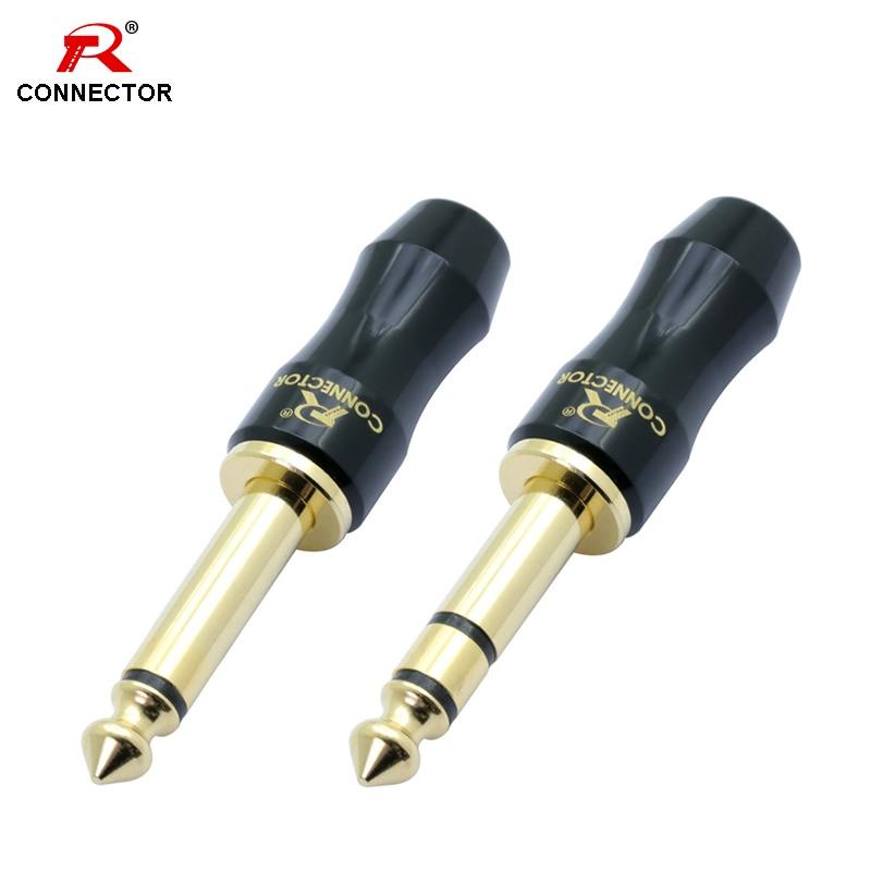 1pc Excellent 6.35mm Jack Connector,1/4