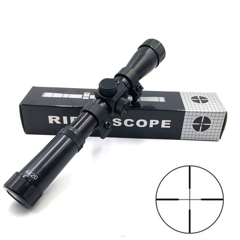 Short 4x20 Hunting Riflescopes Holographic Sight Optics Guns Shooting Scopes Sniper Reticle Pistol Reflex Sight Accessories