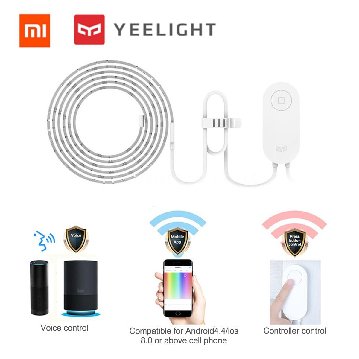 XIAOMI Yeelight RGB LED 2M bande de lumière intelligente intelligente pour Mi maison APP WiFi bande de lumière avec Assistant à la maison 16 millions coloré