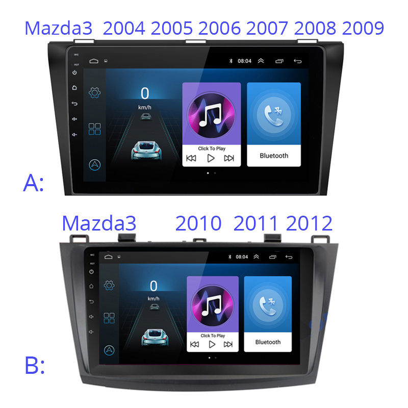 Android 9 inch Car multimedia player GPS For Mazda 3 mazda3 2004 2005 2006 2007 2008 2009 2010 2011 2012 car radio stereo image