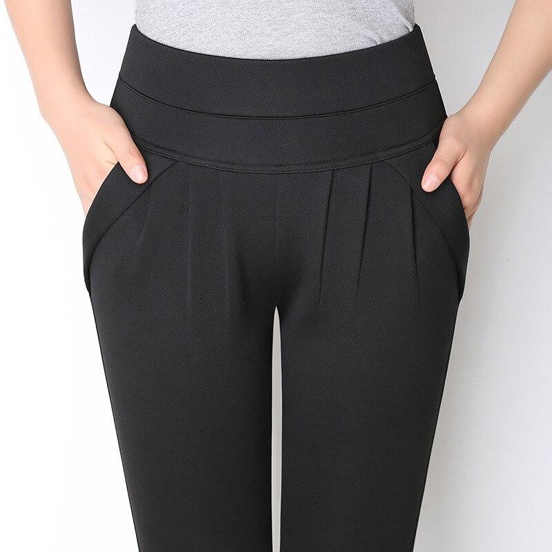 Women's Elegant High Waist Harem Pants Plus Size 6XL Office OL Ladies Trousers For Women 2020 Spring Candy Color Pocket Clothes