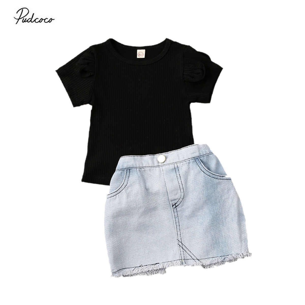 Little Girls Fashion Flare Sleeve Tops+White Shorts Outfits