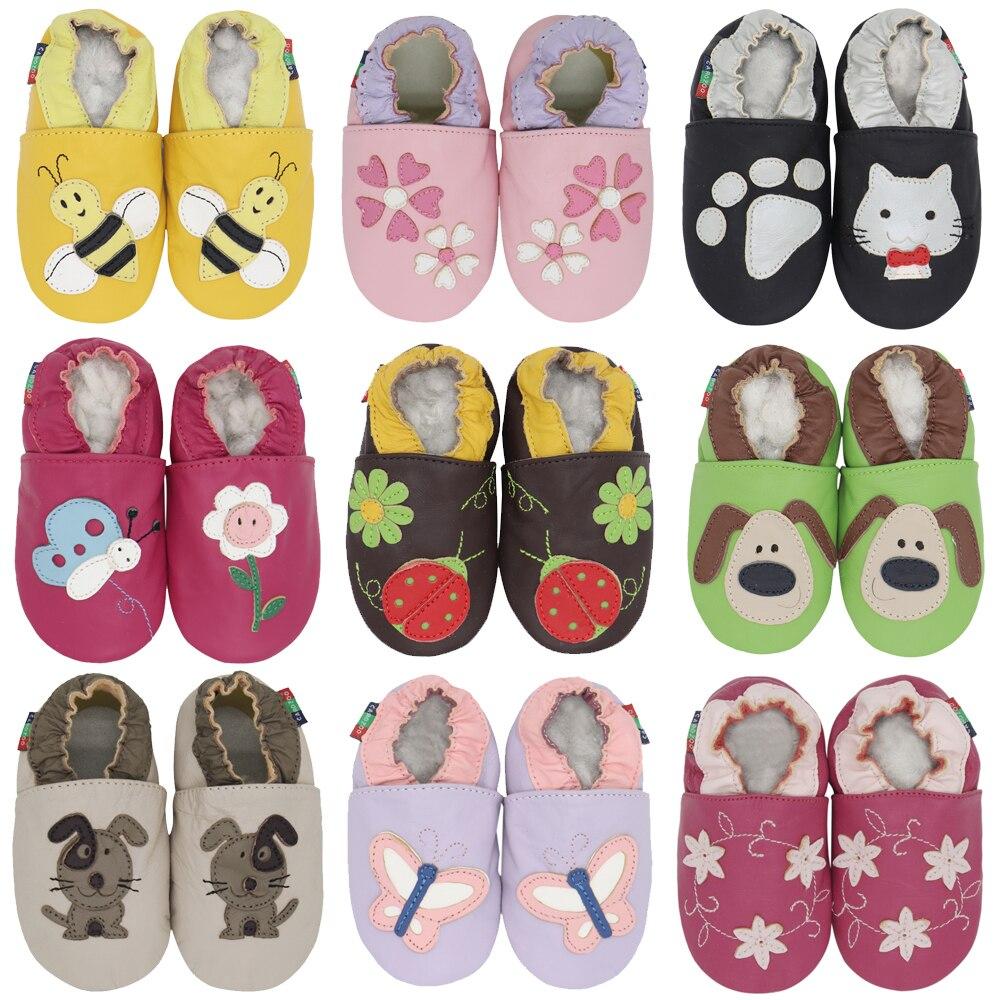 Carozoo/новая кожаная детская обувь с мягкой подошвой; Тапочки для малышей до 4 лет; Для новорожденных