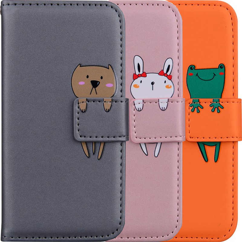 Wallet Case Stand Fundas Voor Apple Iphone 12 11 Pro Xr X Xs Max Se 2020 6 6S 7 8 Plus 5 5S Leuke Cover Card Slot Phone Bags DP22G