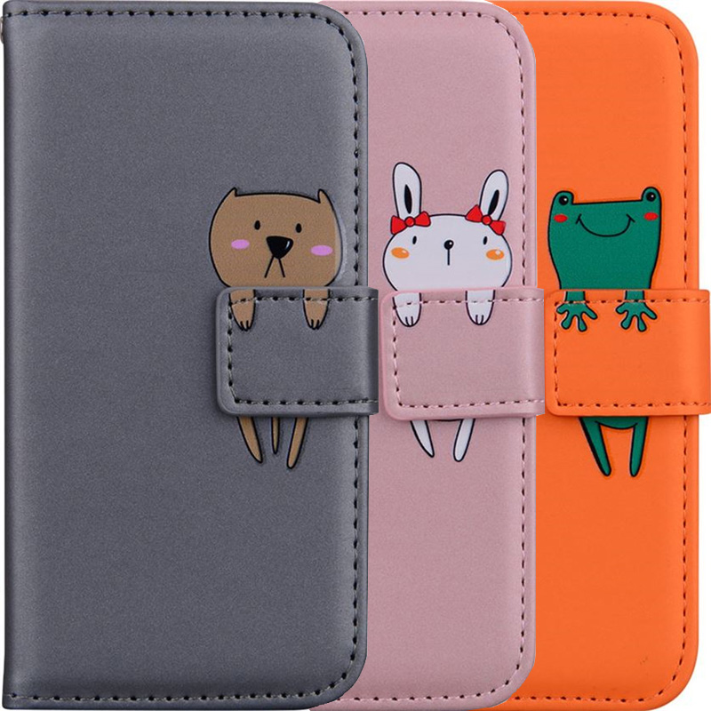 Wallet Case Stand Fundas For Apple iphone 12 11 Pro XR X XS Max SE 2020 6 6S 7 8 Plus 5 5S Cute Cover Card Slot Phone Bags DP22G