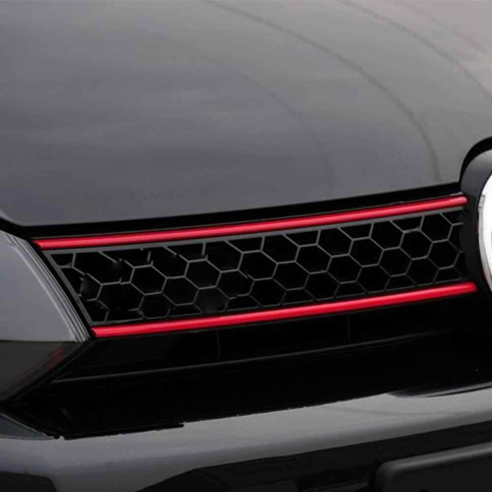 הוד חזית גריל מדבקות רכב רצועת מדבקת קישוט עבור פולקסווגן גולף 6 7 Tiguan asy מקל ולהסיר מדבקות רכב