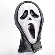 Halloween Creepy Scary Mask Horror Grimace Halloween Party Mask Supplies Skull Death Service Mask Scary Carnival Holiday Prop