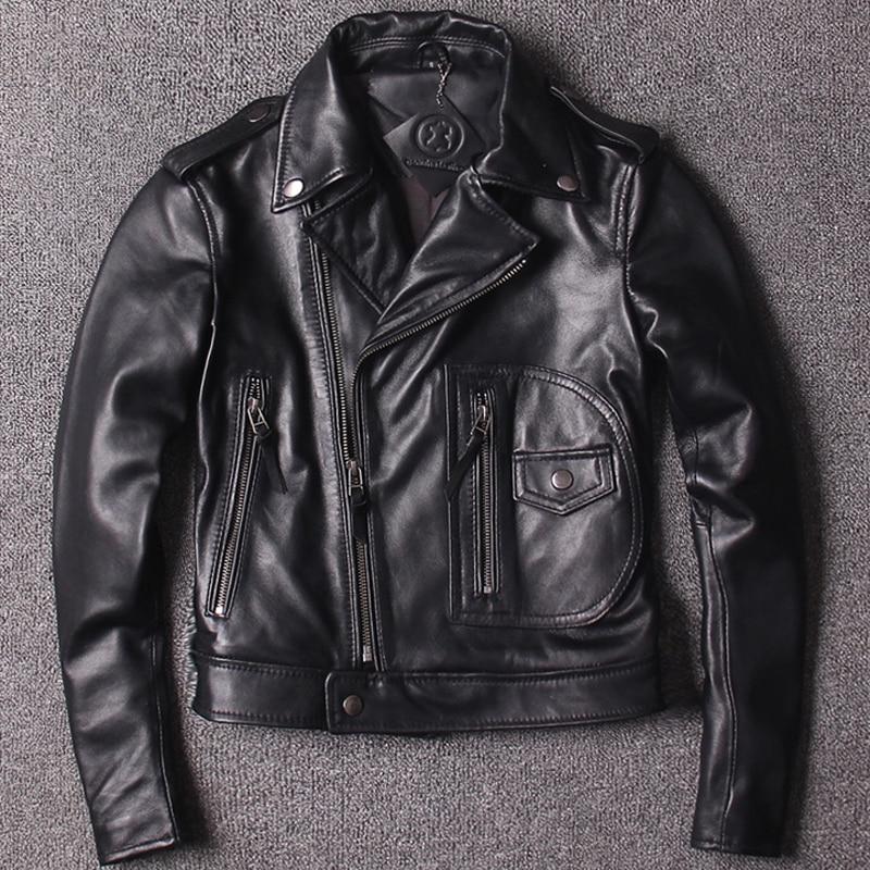 Autos Sheepskin Leather Jackets And Coats Biker Women Genuine Leather Jackets Lady Biker Streetwear A827