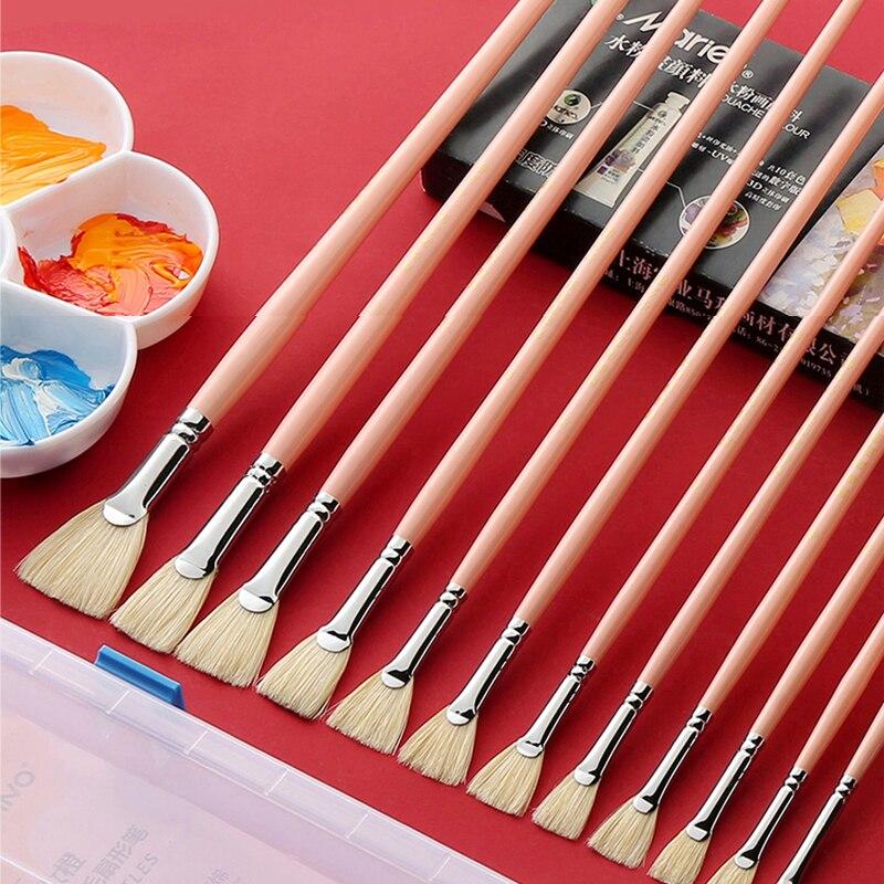 Bgln Acrylic Gouache Fan-shaped Pen Single-packed Watercolor Brush Beginner Oil Painting Acrylic Brush Color Pen Art Supplies