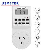 Temporizador Digital TM516, enchufe de pared eléctrico programable semanal, enchufe de alimentación, temporizador, interruptor de salida, reloj de tiempo, 220V, 110V, EU