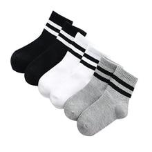 3 Pairs / lot Boys Socks Spring & Autumn Stripe High Quality Cotton Brand Student Kids Socks 3-15 Year Children Socks