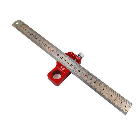 Ferramenta de Medição Dishykooker Carpintaria Escala Régua Centro Localizador Circular