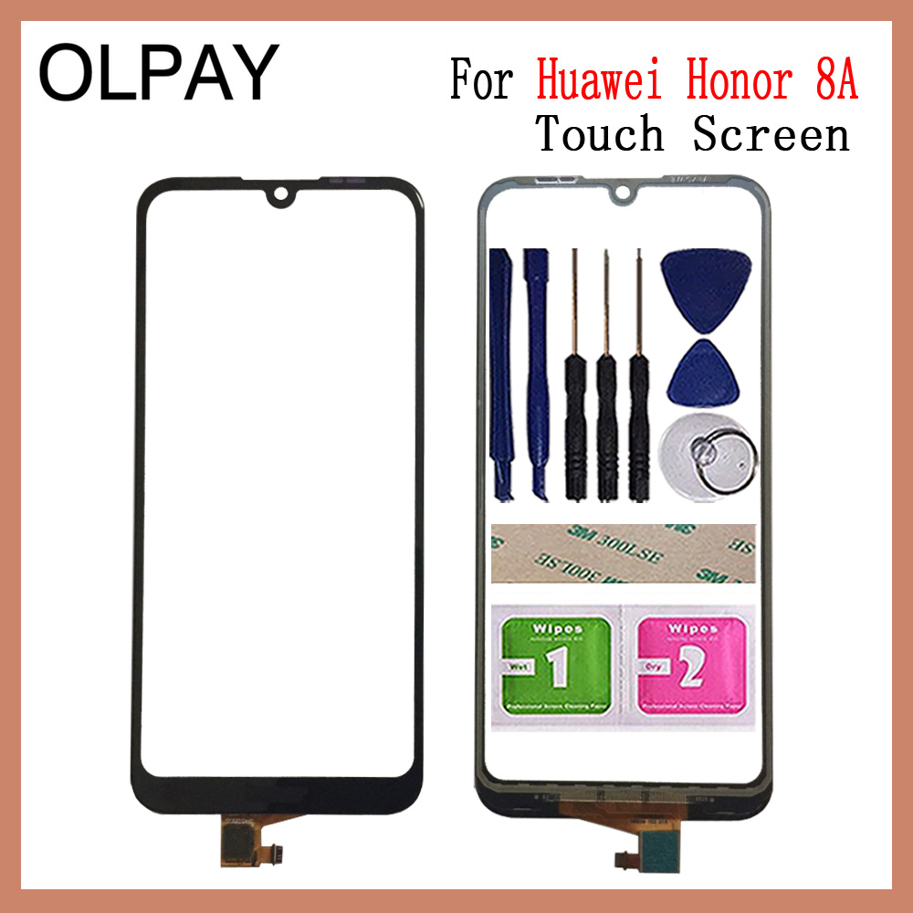 OLPAY 6.09'' AAA Original Touch Screen For Huawei Honor 8A Honor8A JAT-AL00 Play 8A JAT-L29 Touch Screen Digitizer Sensor Glass