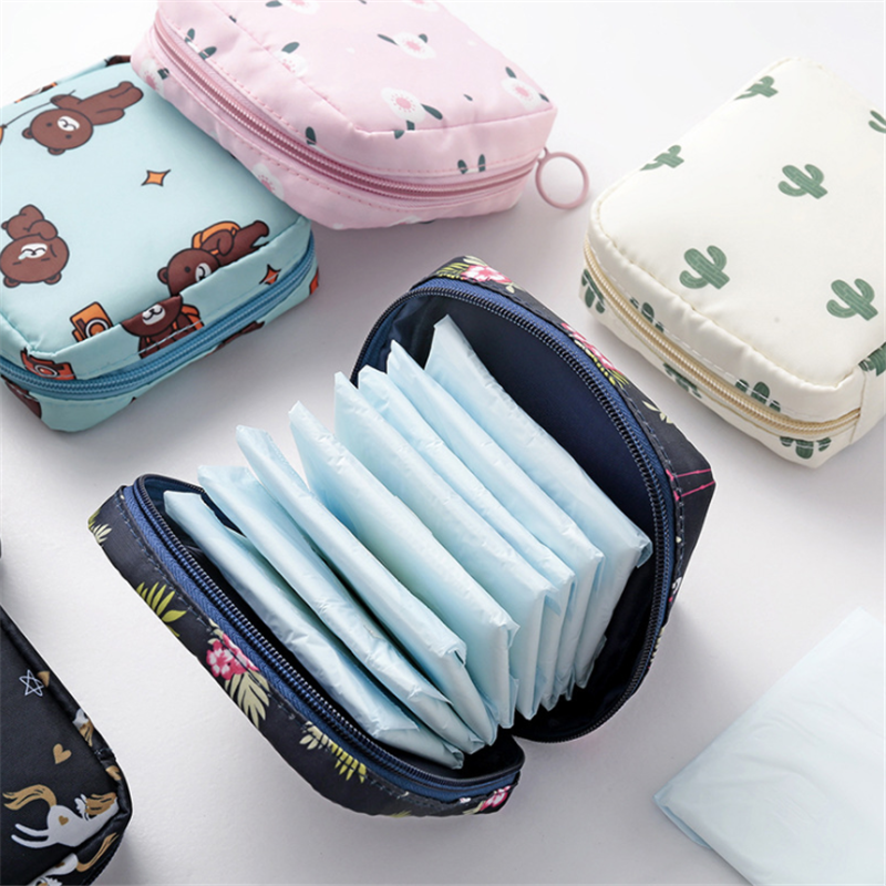 Women Cosmetic Bag Cactus Travel Toiletry Mini Storage Bag Beauty Makeup Bags Cosmetics Organizer Zipper Make Up Case Pouch
