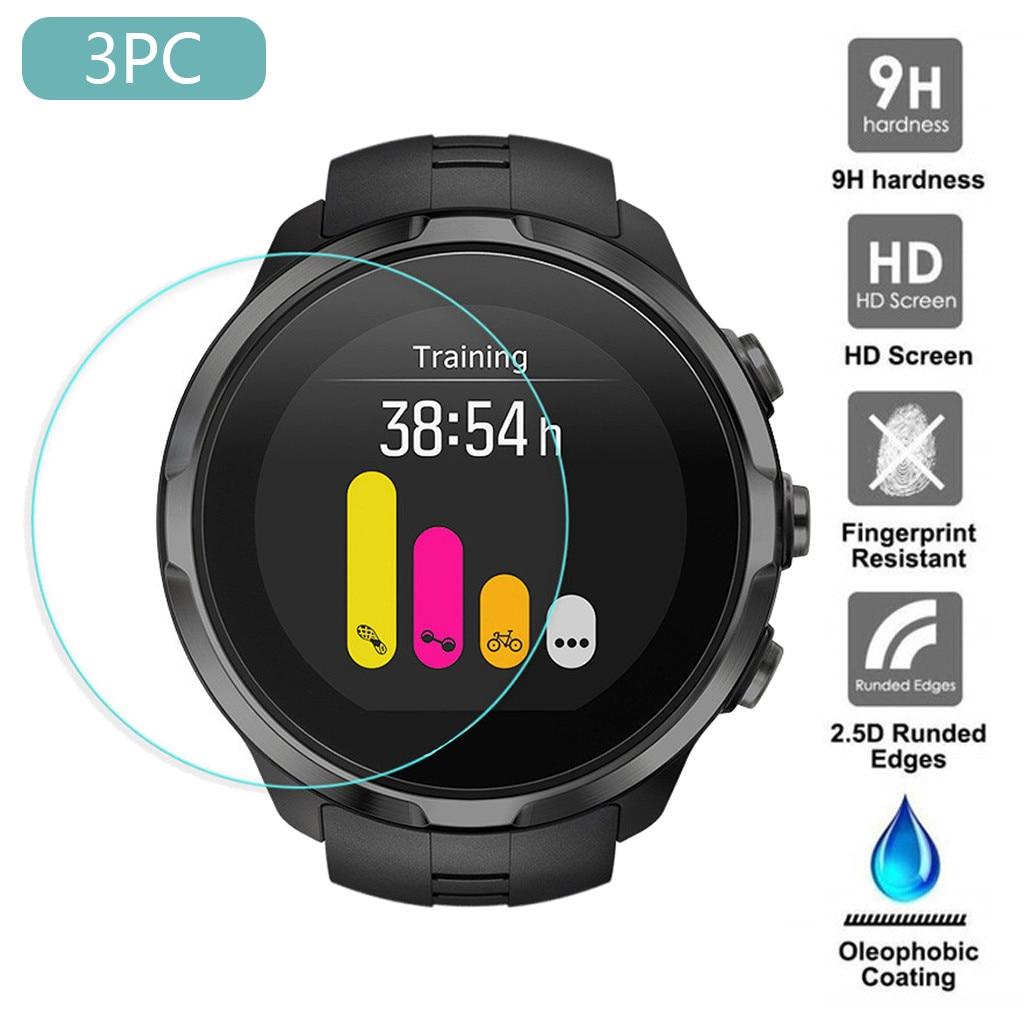 3PCS Tempered Glass For SUUNTO 9 Screen Protector Smart Watch Protect Film 9h Glas Ultra Thin Protector De Pantalla