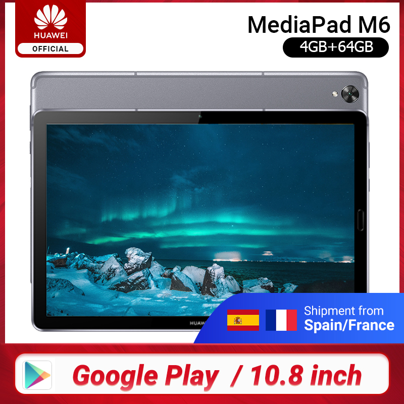Original Huawei Mediapad M6 10.8 Inch 4GB 64GB WIFI Kirin 980 Octa Core Android 9.0 Tablet Type-C Google Play GPU Turbo 3.0
