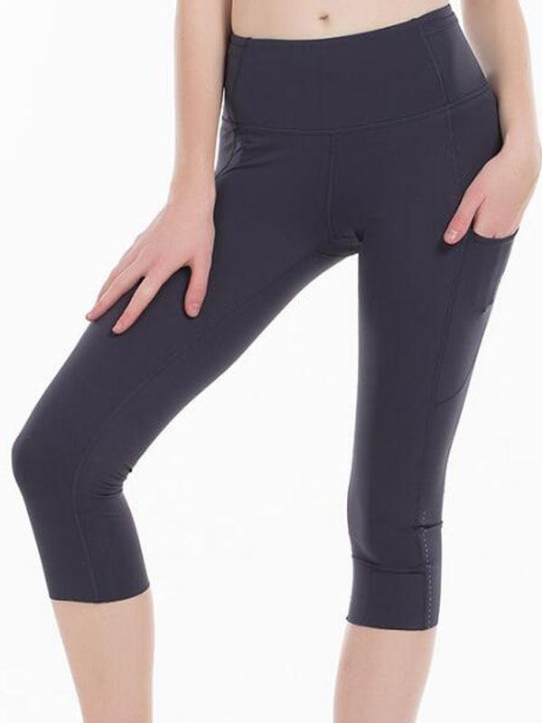2020 Sports Capris Gym Leggings Super Quality Stretch Fabric camo black wine red capris leggings 9