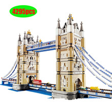 4295pcs World Famous Architecture London Tower Bridge Creator Expert Compatible Lepining Building Blocks DIY Toys 17004 10214