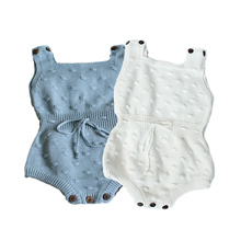 New 2019 Knitted Ball Baby Rompers For Girls Overalls Autumn Girl Clothes Toddler Clothing Baby Costume Infant Jumpsuit autumn baby knit romper infant sweet girl knitted rabbit overalls bunny baby jumpsuit toddler girls boys clothing roupa menina