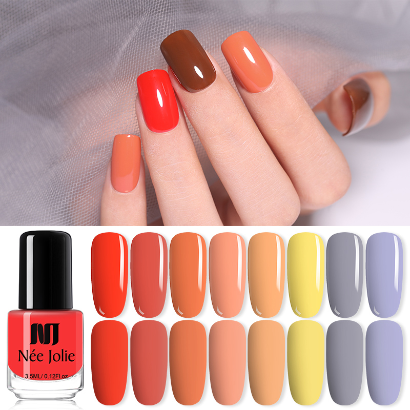 NEE JOLIE 3.5ml Matte Nail Polish Colorful  Red Black Long Lasting Matte Dull Nail Art Varnish  Varnish Nails