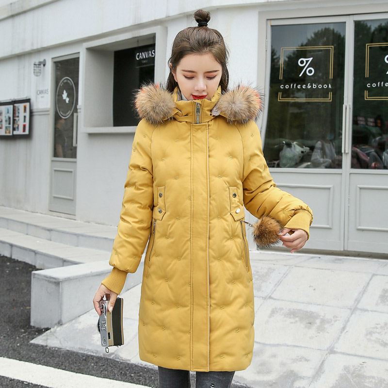 Women&39;s Jacket Large Size 2019 Female Long Hooded Fur Collar Parka_B3_14