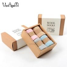 цена Men's Merino Wool Socks Winter Solid Color Brand Wool Socks Japanese Style Thick Winter Warm онлайн в 2017 году
