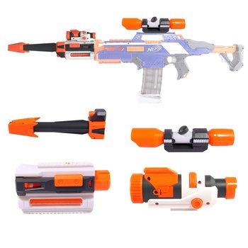 Actualización de los Mods Kit para Nerf con táctica linterna frontal tubo decoración avistamiento alcance dispositivo carril guía cuerpo principal para armas de juguete