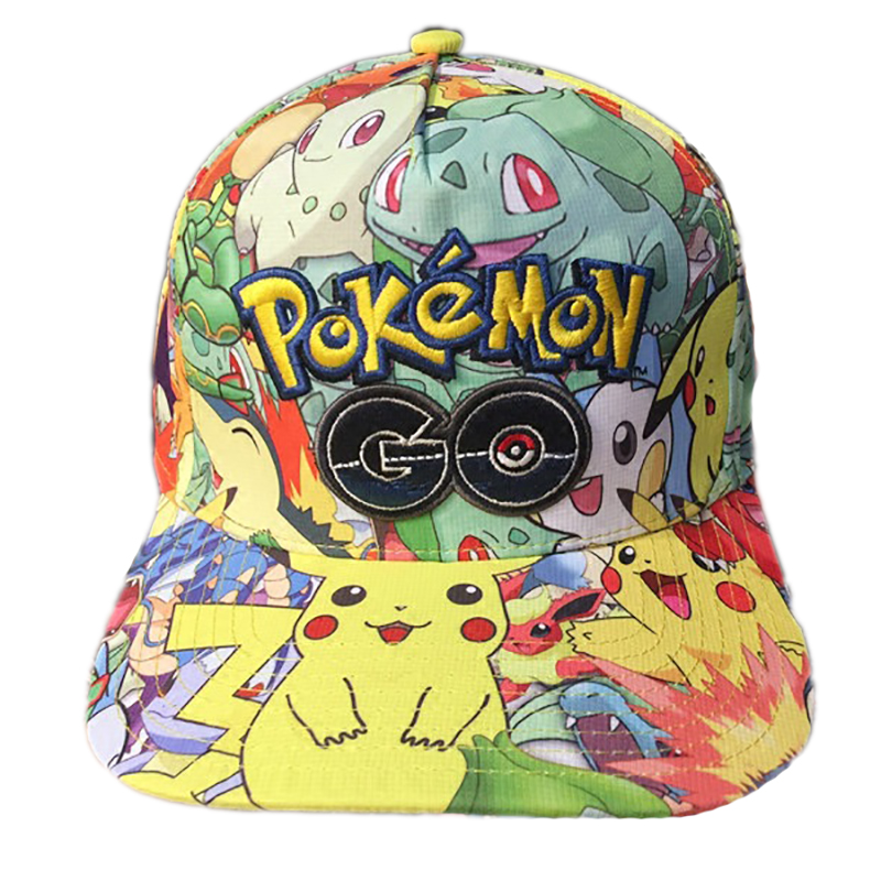 Pokemon Embroidery Baseball Hats Pikachu Children Cosplay Cartoon Hat Pocket Monster Figure Hat Toy Kids Gift
