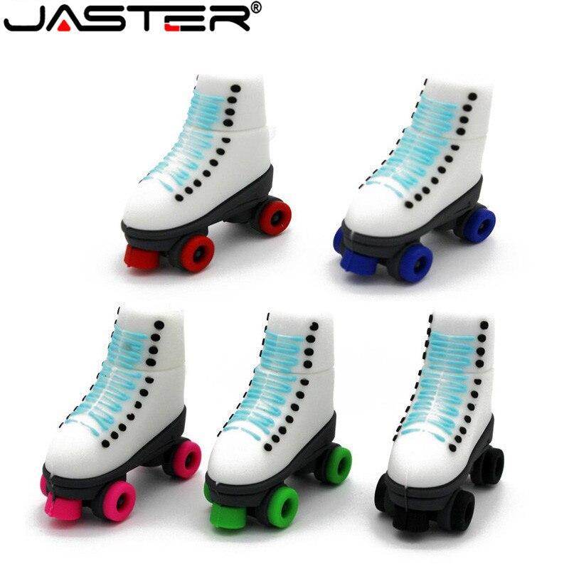 JASTER The Gift Of USB 2.0 Pen Drive New Roller Skates USB Flash Drive  Minions Memory Stick Pendrive 4GB 8GB 16GB 32GB 64GB