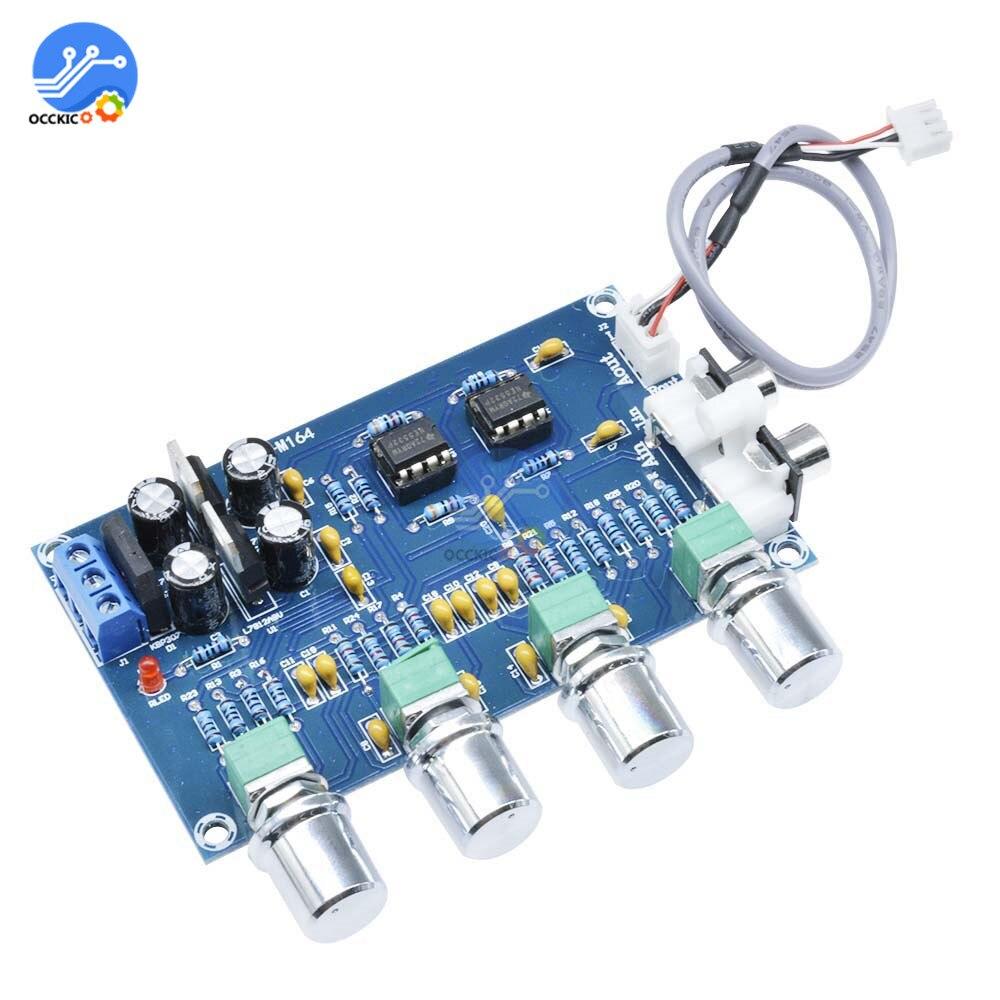 NE5532 Amplifier Board Audio 4 Channels Preamplifier Tone HIFI Board Stereo Pre-amp Amplifier Professional Speaker Power Control