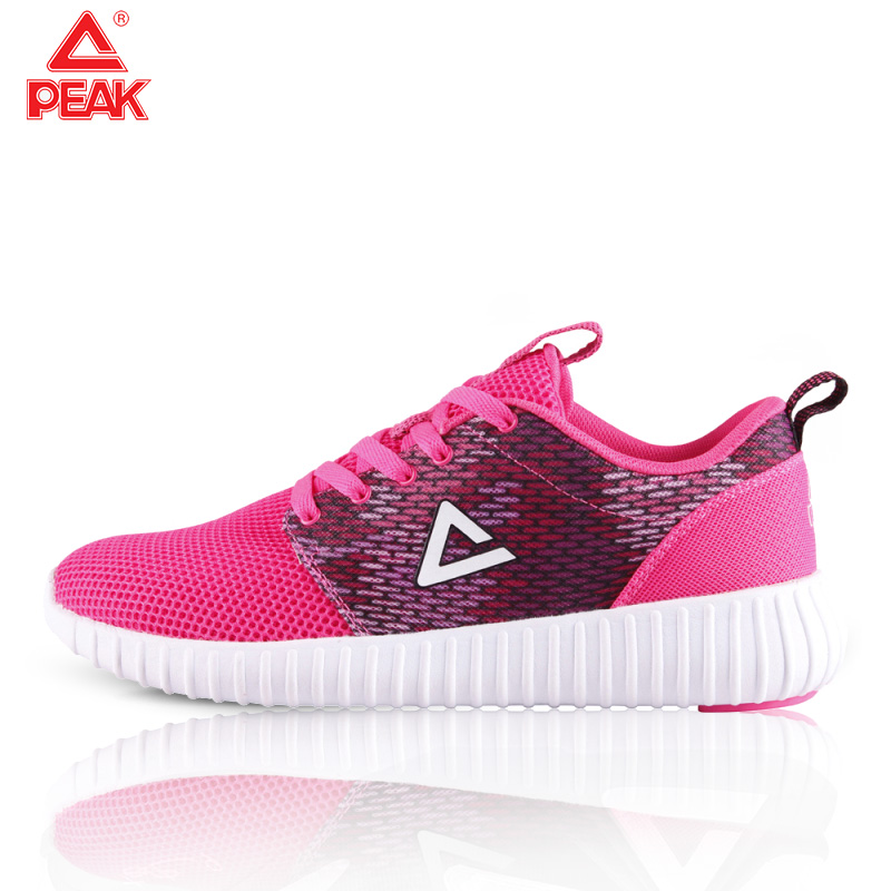 PEAK Woman Sneakers White Platform Trainers Women Running Shoes Outdoor Walking Jogging Sports Shoes Lace Up Mesh Athletic Shoes
