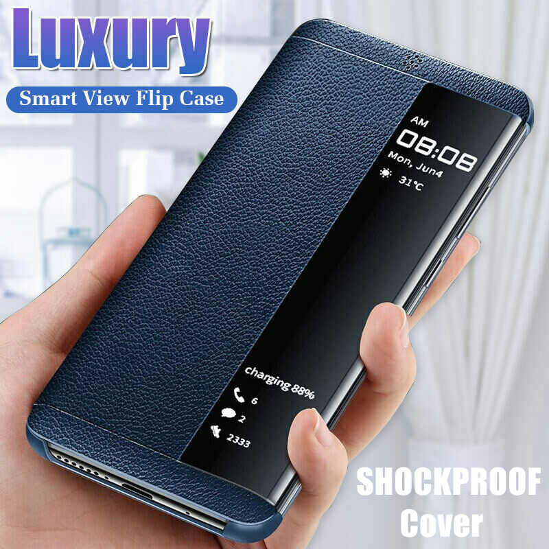 Flip Case untuk Samsung Galaxy A10S A10 A20 A30 A40 A50 A60 A70 Smart Window Leather Case Cover Samsung Yang 70 50 10 Fundas Coque
