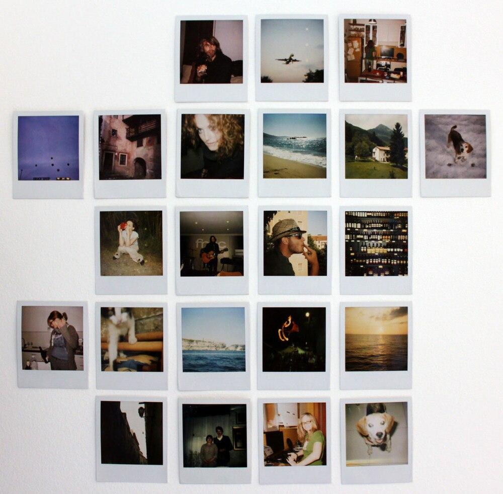 Originaux couleur 600 Film 8 feuilles Photos instantanées blanc cadre papier pour Vintage 600 636 gros plan OneStep i-type caméras pour voyage - 5