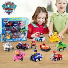 Figuras de acción de la Patrulla Canina para niños, 9 Uds., coche de cachorro, modelo de figuras de acción, Chase, Ryder