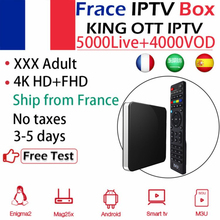 ТВ IP605 tv Box+ KING IPTV арабское IPTV испанско-португальский взрослый Европа IPTV, Amlogic S905X H.265 WiFi Android/Linux OS Mag Smart tv Box