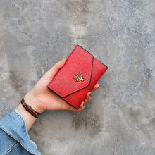 2019 Fashion Wallet Women Short Retro Tree PU Leather Wallets Small Luxury Brand Leather and Lovely Purse Female Small Wallets women luxury brand fashion genuine leather patchwork wallet women small purse female short design
