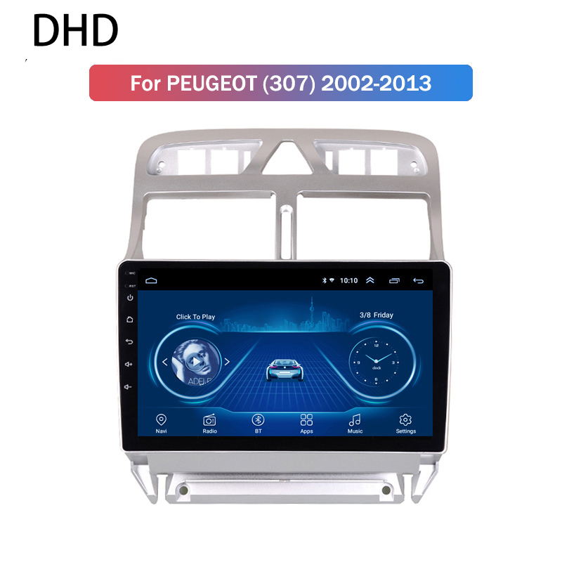 Android 9.0 IPS 2.5D <font><b>Car</b></font> DVD Player GPS Navigation Multimedia For <font><b>Peugeot</b></font> <font><b>307</b></font> 307CC 307SW <font><b>Radio</b></font> 2002-2013 <font><b>USB</b></font> Stereo Head Unit image