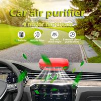 New USB Rechargeable Car Air Purifier Deodorization Nanofibre Pre filter Touch Type PM2.5 Smoke Odor Eliminator Air Cleaner 12V