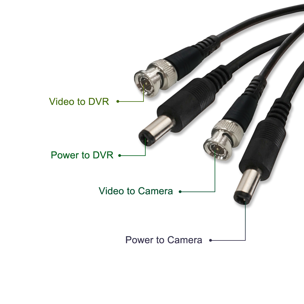 ANRAN 18m/30m/50m Power supply & BNC Extension Cable Best quality BNC Cable 2 in 1 Surveillance Camera Video + power cord