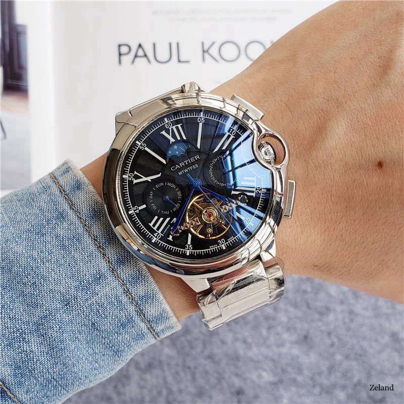 Cartier  Luxury Watch  Men women Watch Waterproof Automatic Mechanical Watch Stainless Steel Sapphire Crystal Wristwatch 22|Mechanical Watches|   - AliExpress