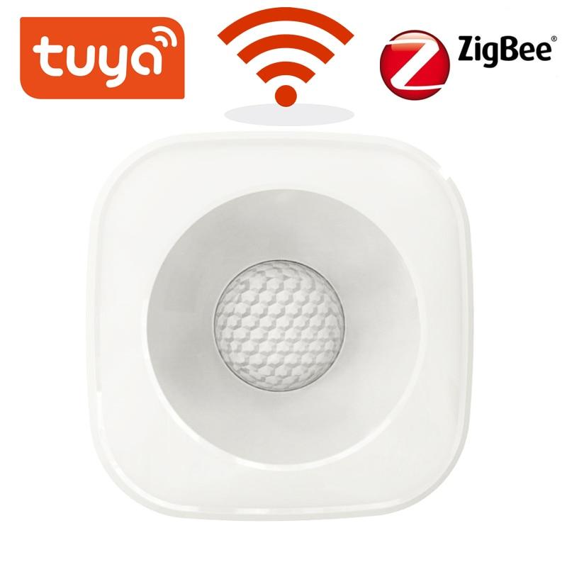 Tuya zigbee/wifi pir sensor de movimento, detector infravermelho sem fio, alarme anti-roubo, sensor de vida inteligente, aplicativo controle compatível