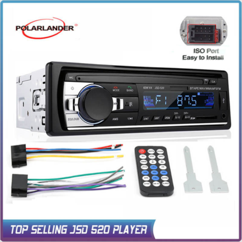 1 Din Car Radio Stereo Player Bluetooth Phone AUX-IN MP3 Electric 12V Car Audio Autoradio Radio Cassette Auto Tapes Magnet image